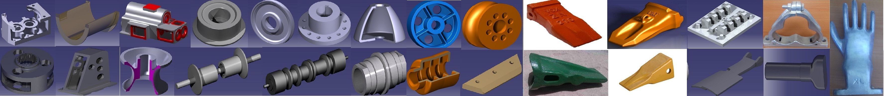 Gearbox-Roller & Pulley-Aluminum Pattern-Nail Loaders